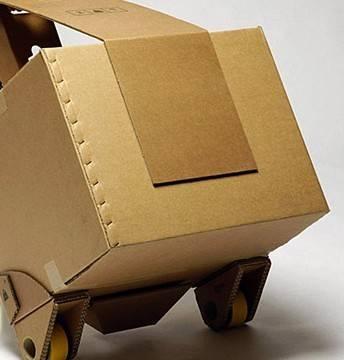 纸箱制作汽车轮子