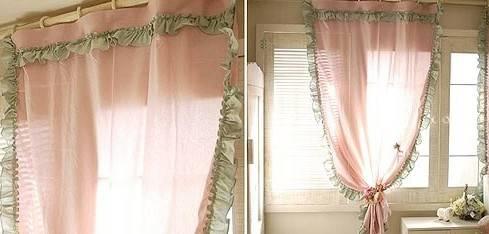 漂亮的韩式新款荷叶边窗帘