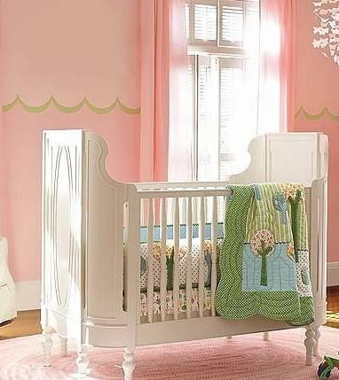 手绘卧室窗帘效果图