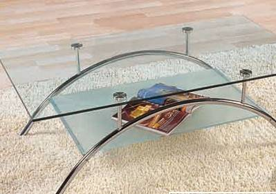 玻璃家具造型多变钢化玻璃家居走俏-家具中国内v造型办公楼新闻图片