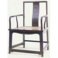 紫檀扇面形官帽椅·明