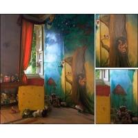 经典手绘背景墙 让家居充满艺术气息
