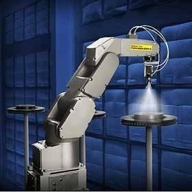 世界最小喷涂机器人 首次亮相中国