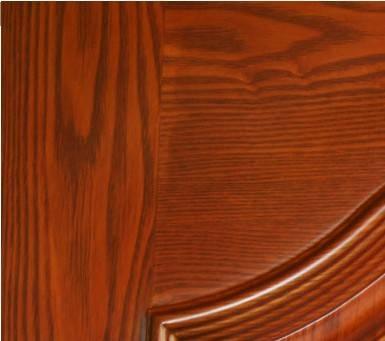 【测评】家泰木门实木复合新品j11-07      木门上部造型吸收了欧式