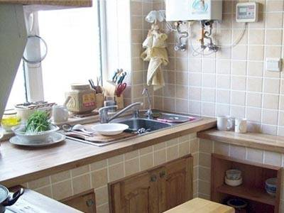 别墅砖砌厨房装修