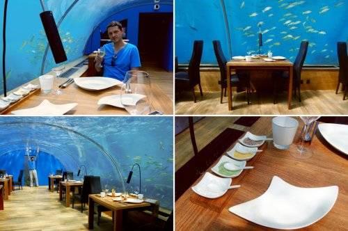全世界第一家全玻璃海底水下餐厅