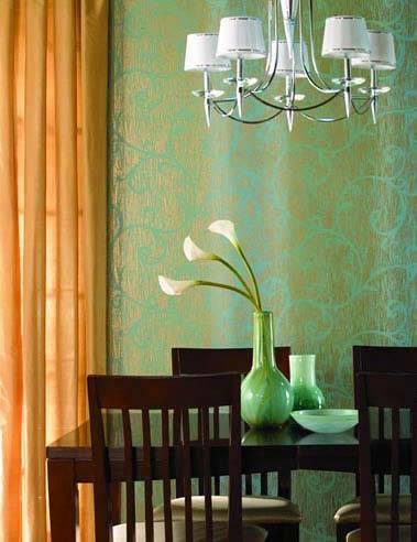 欧式风格之前面时尚,墙纸的选择