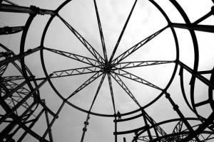 民营企业联合馆钢结构胜利封顶