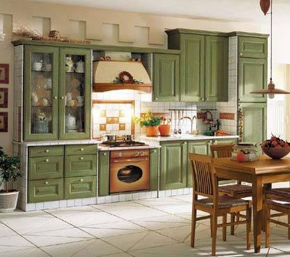 藍綠色櫥柜效果圖