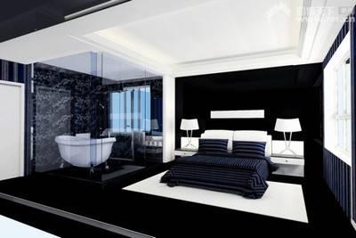 90后推荐的黑色壁纸装修的个性卧室(组图)