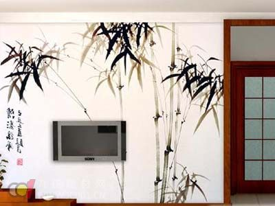2013年客廳壁紙裝修效果圖之中國風壁紙
