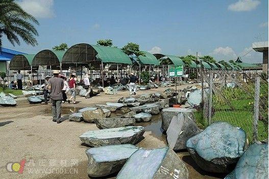 缅甸翡翠公盘翡翠原石成交价比起拍底价暴涨18700%