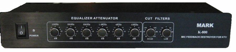 k-800话筒啸叫抑制器采用了三重防啸叫措施