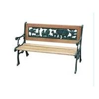 特价!玫瑰图案铸铁休闲椅/户外长椅/公园椅