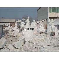 石雕十二生肖柱,12生肖福运石雕