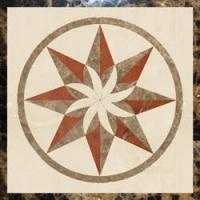 佛山空间建材陶瓷拼图水刀艺术拼花电视背景墙