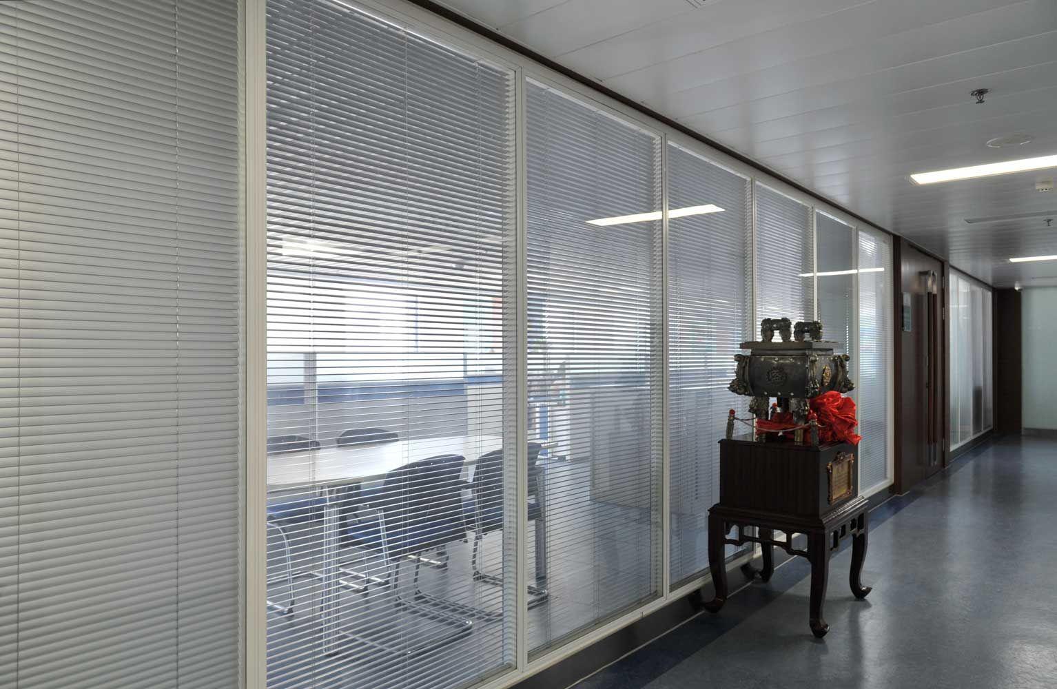 济南玻璃隔断 铝合金隔断 活动隔断-聚美隔墙