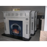 欧式现代风格白色大理石壁炉