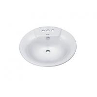 成都东鹏卫浴面盆 乳白单式台盆 地排水台面脸盆DP04-67