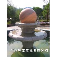 晚霞红风水球/宁波风水球厂家/黄锈石风水球价格