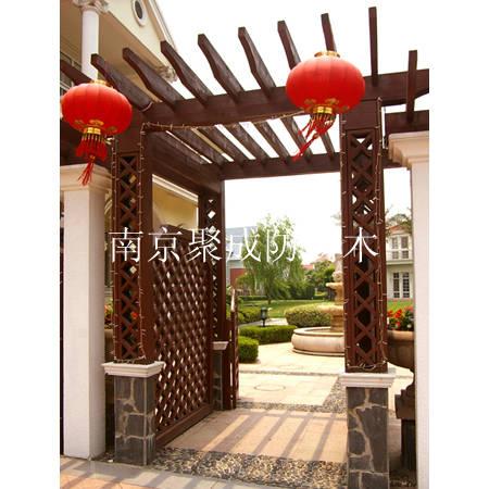 淮南防腐木葡萄架-南京聚成防腐木-19