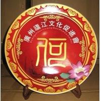 陶瓷纪念盘,青花瓷盘,陶瓷工艺盘,礼品盘,陶瓷盘子