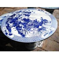 陶瓷瓷桌,青花陶瓷瓷桌,乌金釉瓷桌