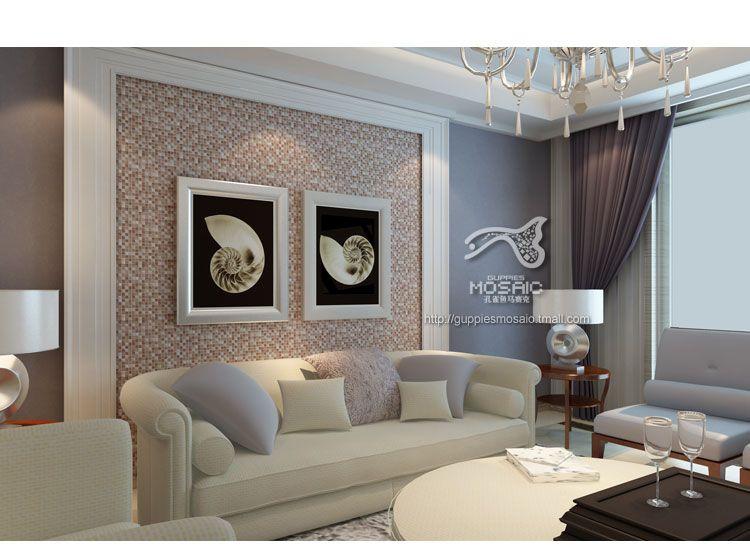 热销水晶冰裂马赛克电视沙发背景墙装饰