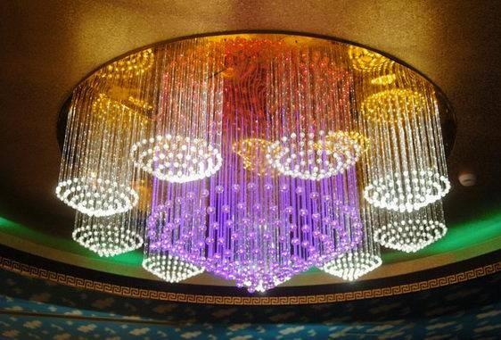 蘇州光纖燈--光纖照明水晶吊燈工程-- 光纖燈