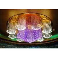 苏州光纤灯--光纤照明水晶吊灯工程