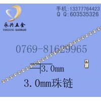 3.0mm不锈钢珠链,304不锈钢波仔链,饰品链