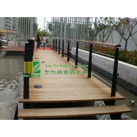 炭化木(碳化木)木桥