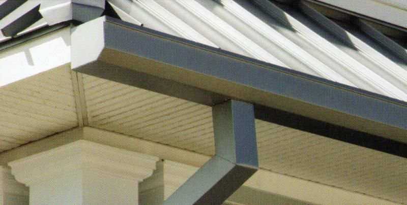 铝合金成品檐沟产品图片,铝合金成品檐沟产品相册 青岛和谷新型建材有限公司 九正建材网