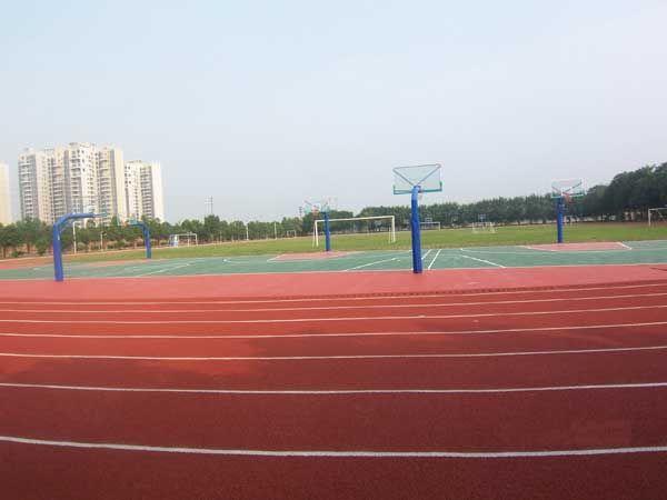 上海透气型塑胶跑道,幼儿园活动场地