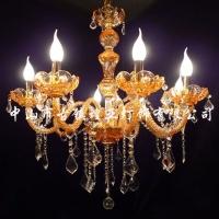 供琥珀色水晶蜡烛灯,欧式水晶吊灯,客厅蜡烛吊灯