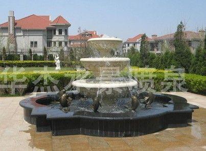 雕塑水景喷泉图片