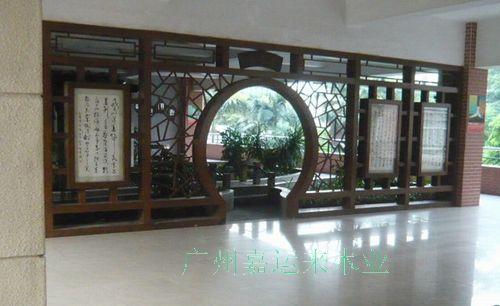 仿古中式建筑铝合金窗子图片