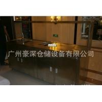 专业生产广州不锈钢咖啡奶茶柜,东莞带水槽奶茶操作台