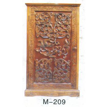 仿古木雕柜子m-209