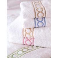 平织绣花毛巾