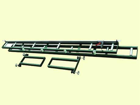 J300电动精密转盘切割机专用滚筒送料架(选购件)