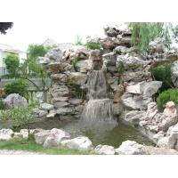 假山太湖石、千层石、斧劈石和瀑布、叠水、溪流、喷泉的造景