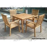 大量批发实木桌椅桌子中间可插中柱伞
