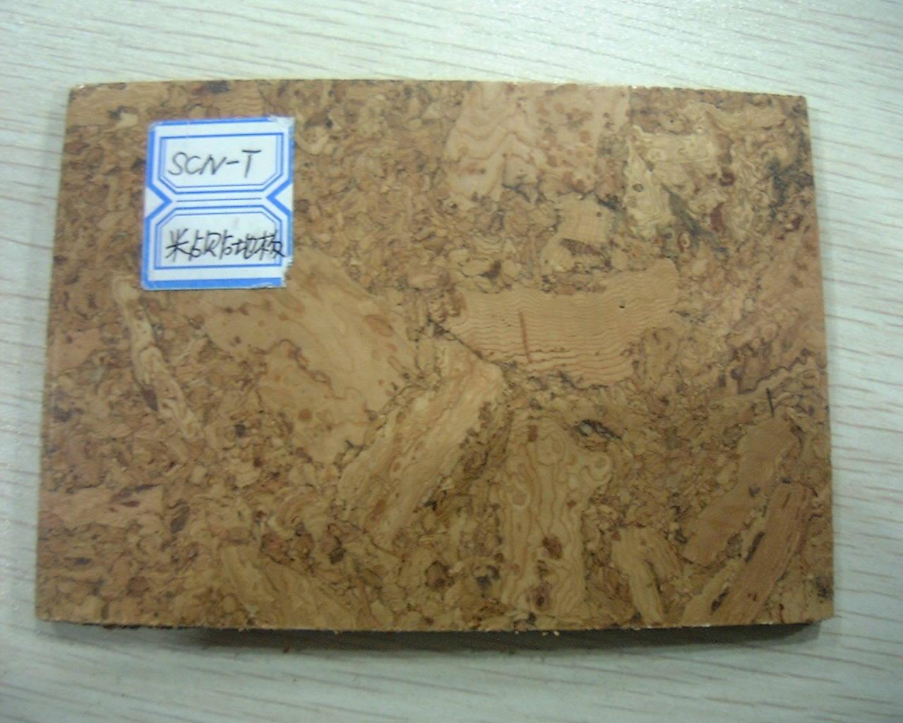 粘贴式软木地板