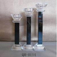 厂家直销水晶玻璃烛台 水晶工艺品 水晶摆件