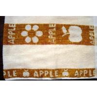 彩条苹果花朵纯棉中档毛巾
