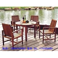 厂销户外实木休闲园林庭院桌椅套椅