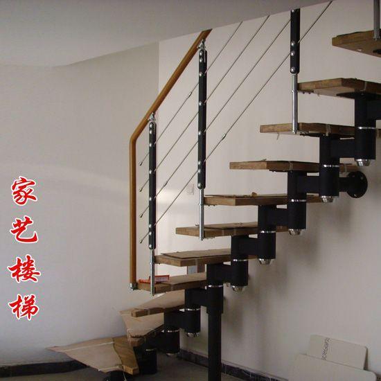 陕西西安家艺楼梯2-实木楼梯|玻璃楼梯|钢木楼梯