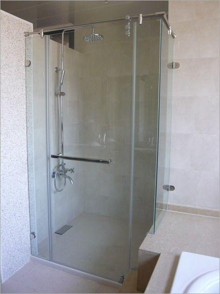 卫生间隔断无边框玻璃