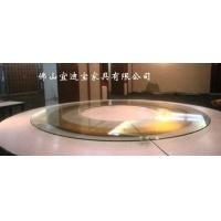 电动餐桌 电动玻璃转盘餐桌